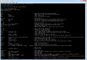 CLI (Command Line Interpreter) executing on Scorpion Board
